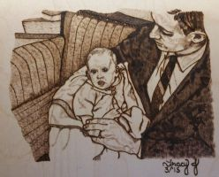 Baby Tracy and Dad by PortlandPyrography