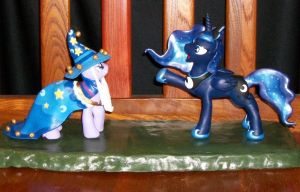 TALKING Luna and Twilight Canterlot sculpt 4 sale by MadPonyScientist