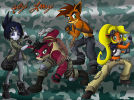 Crash Bandicoot Fanfic Characters Concept Art by omegacybersilver