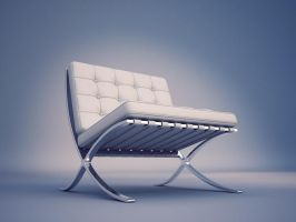 Barcelona chair by Brazowy