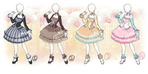 AtelierDesireeU: Prim Lady (CLOSED dress adopts) by Desiree-U