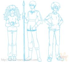 Commiss: R+R Ryndy, Reynold and Roxette by Sakura-Rose12