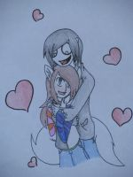 Hugs Are Epic - Jeff and Evee by DJ-Sky-Storm-117