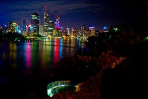 Brisbane City. by Beer-Bottle-Photo