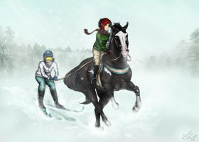 Dashing through the snow... by just-sora