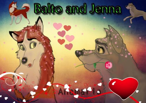 Balto and Jenna (Valentine's related) by magicalnightstars