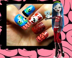 Ghoulia Yelps Nails by ZeeaDarling