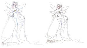 Moon Queen Serenity Comparison by Moon-Shadow-1985