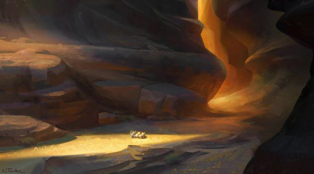 Puss in Boots: The Mysterious Canyon by NathanFowkesArt