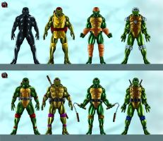 TMNT - final versions by joshdancato