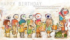 happy birthday - greeting card by 4leafcloverVN