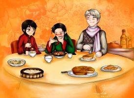 Chow Down -Colored Ver.- by ShiroChama98