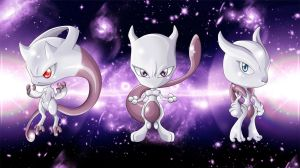 Mewtwo Mega Forms by Pellisari