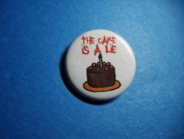 Cake is a Lie Button by vickinator