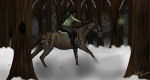 Winter Forest Competition with Cece and Cyranos by RisingAngelss