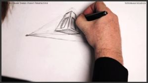 Learn how to draw three point perspective 008 by drawingcourse