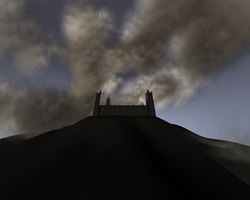 a castle with clouds by panzi
