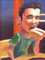 Painting of Caricature Me by nenerocks