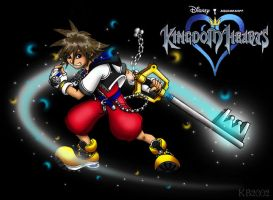 Sora and the Keyblade by KrisCynical