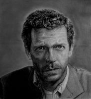 Dr. House drawing portrait by andresarte