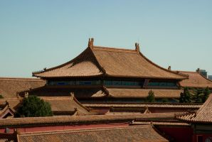 roof in forbidden city by macgl