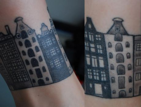 Houses tattoo by Vegasbride