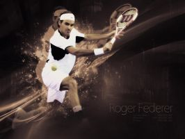 Roger Federer by Gommie