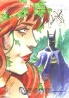 poison ivy and batman by andypriceart