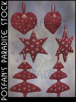Christmas Tree Ornaments by poserfan-stock