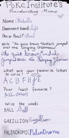 Mabelle's handwriting by BeautifullyDarkened
