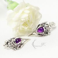 XAVENTHIL Silver and Amethyst by LUNARIEEN