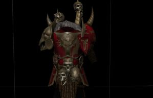 Khorne chosen-armor for skyrim-WIP by tzeenchie