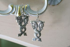 Fierce Dragon Earrings by MonsterBrandCrafts