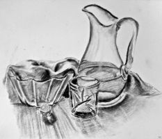 Light practice - charcoal by Auri3