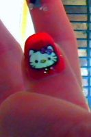 hello kitty nail by Lust-M