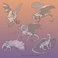 Pern Dragons - Juvenile set by mirroreyesserval
