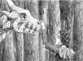 the Dragon and the Boy by 6DeadSpaceOfPencil9