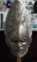 Frontshot of ceremonial helmet by danielokeefe