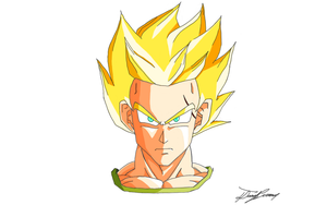 My Oc- Daikon As A Super Saiyan by gokujr96