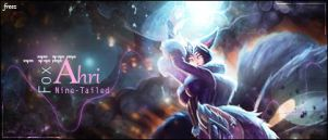 Ahri LoL Signature by xMarquinhos