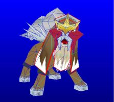 entei papercraft by javierini