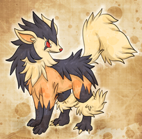 C: Mightyena+Arcanine Fusion by Skeletpengu