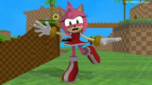 MMD Sonic Newcomer - Amy Rose +DL+ by MMDCharizard