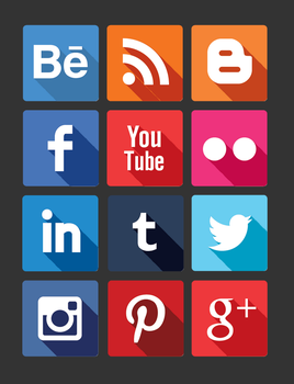 Flat Social Icons by MariMysteria