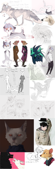 sketchdump #10 by foxedd