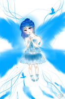 The Lonely Blue angel by Eru-Senpai