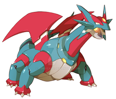 Commission : Model Salamence Form by Tomycase