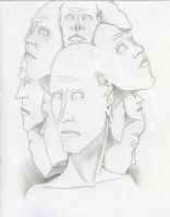 11 headed man by ItsMeRuttu