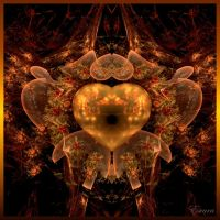 Heart and Flowers by Escara40