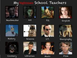 My Nightmare School Teachers by CommnderShepard117